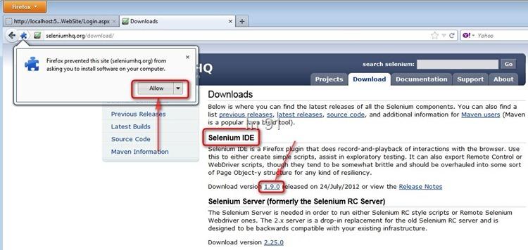 Selenium IDE download